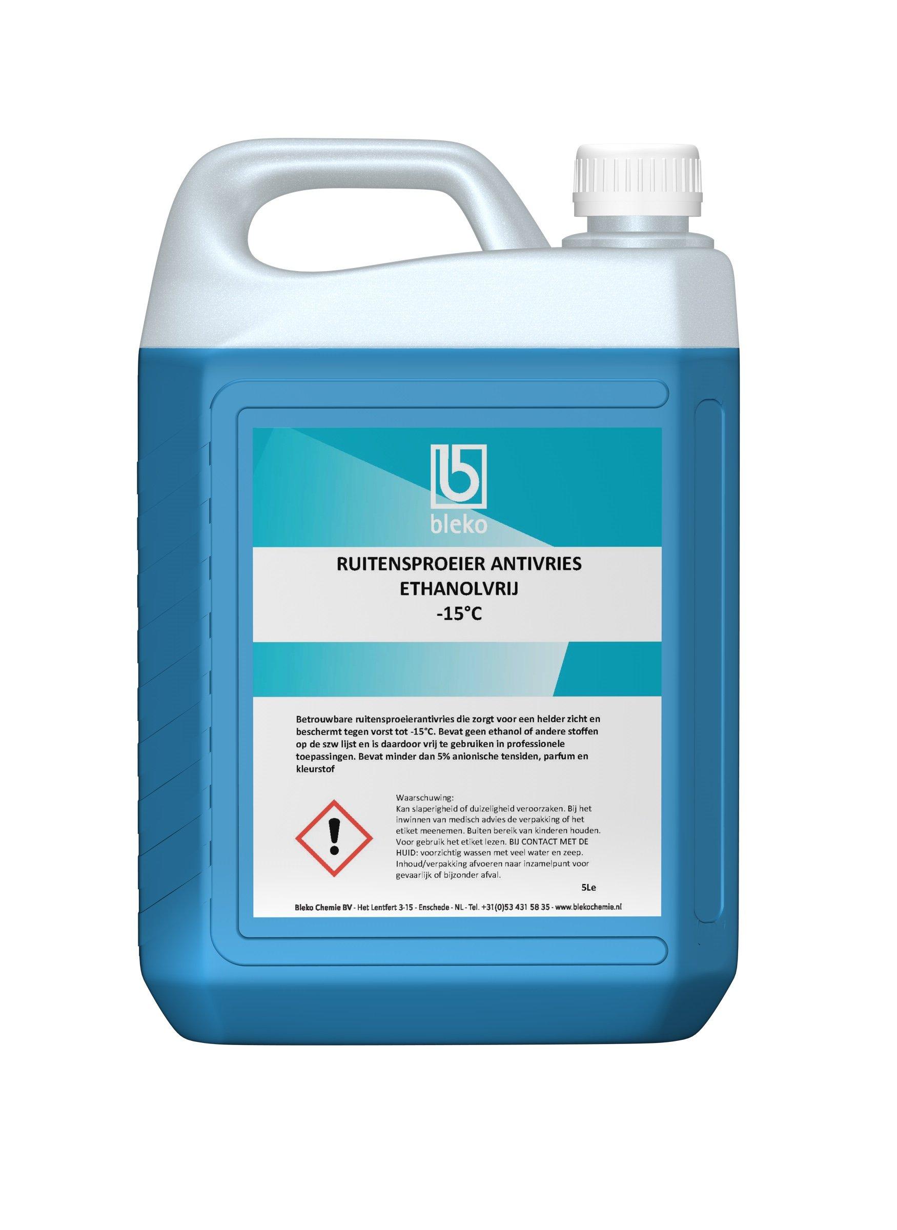 Ruitensproeierantivries ethanolvrij -15C 5L Bleko