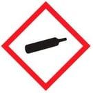 Gevaarsymbool gassen onder druk